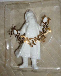 Christmas Tree Ornament Santa Getting Into Spirit White Porcelain Hallmark 2011 #Hallmark