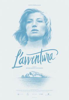 La locandina del film L'Avventura di Michelangelo Antonioni.