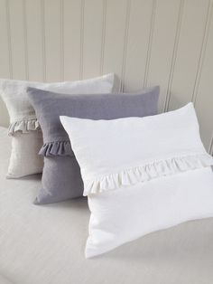 Stunning oblong frill cushions handmade exclusively for Peony & Sage in these beautiful new Finca. Sewing Pillows, Diy Pillows, Linen Pillows, Decorative Pillows, Throw Pillows, Room Ideas Bedroom, Bedroom Decor, Pillow Crafts, Cushion Cover Designs