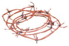 Dapper Cadaver - Rubber Barb Wire 100 ft Roll, $36.00 (http://www.dappercadaver.com/products/rubber-barb-wire-100-ft-roll.html/)
