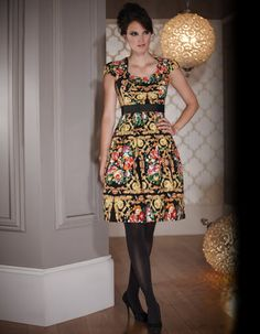 Baroque Floral Dress £69 from Bravissimo