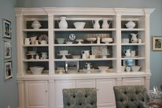 built in cabinets and display space