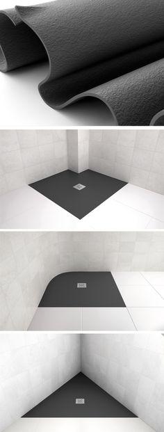 Plato de ducha Elax de Fiora: el primer plato de ducha elástico que se adapta a cualquier espacio.