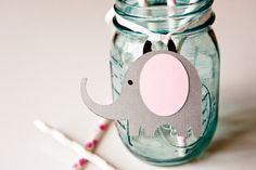 Elephant Favor Tag Birthday Gift Tags Jungle Baby by CupcakeDream, $9.00