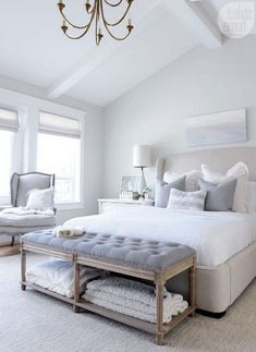 Gorgeous 50 White and Gray Master Bedroom Interior Design Ideas Homedecor - Bedroom Bed, Linen Bedroom, Furniture Bedroom and Style Master Bedroom Master Bedroom Interior, Bedding Master Bedroom, Woman Bedroom, Cozy Bedroom, Linen Bedroom, Bedroom Wallpaper, Bedroom Green, Night Bedroom, Bedroom Inspo