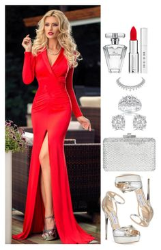 """""""Untitled #4510"""" by natalyasidunova ❤ liked on Polyvore featuring Jimmy Choo, Judith Leiber, Kobelli, Effy Jewelry, Givenchy, Avon and Bobbi Brown Cosmetics"""