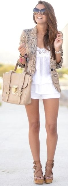 Neutrals // white // tan wedges