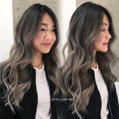 Hairstyles and Beauty: The Internet`s best hairstyles, fashion and makeup pics are here. Brunette Hair With Highlights, Brown Blonde Hair, Hair Color For Black Hair, Cool Hair Color, Hair Color Asian, Korean Hair Color Ombre, Ash Brown Highlights, Ash Brown Balayage, Ashy Hair