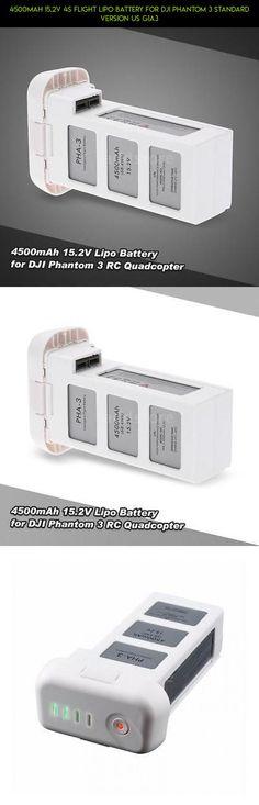 4500mAh 15.2V 4S Flight Lipo Battery for DJI Phantom 3 Standard Version US G1A3 #phantom #camera #shopping #products #drone #tech #technology #version #standard #gadgets #racing #kit #parts #plans #dji #fpv #3