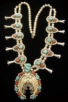 Squash blossom Native American necklace