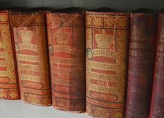'Charles had, by this time, ascertained that the book his sisters were consulting was an old copy of Debrett's peerage.' This pic - Essential Guide To The Peerage, first published How To Age Paper, Fantasy Series, Pride And Prejudice, Book Binding, Antique Books, The Book, Essentials, Cinder, Book Stuff