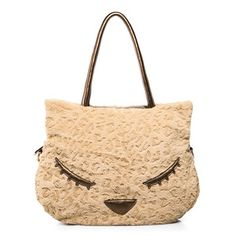 Ladies Cat Face Patterned Fur Shoulder Bags,  Trend Alert! available @ http://stores.ebay.co.uk/9javatar-Fashion-Beauty