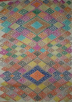 Man's ceremonial wrap, Timor. Cotton, warp wrap patterning, mid ... : cotton warp quilt - Adamdwight.com