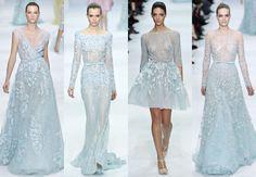 mood board: blue wedding dresses