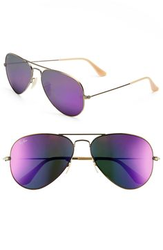 These bronze and violet aviator shades are classic and timeless while still being right on trend with this summer's fashions.