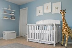 Clic Gray And Blue Safari Nursery