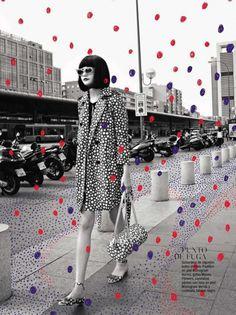 "Glamour Spain August 2012, ""Vuitton Loves Kusama"""