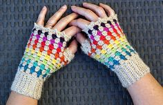 Ravelry: Rainbow mittens pattern by Eclectic Gipsyland
