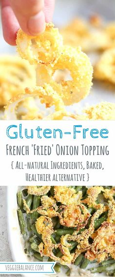 Gluten-Free French Fried Onion Toppings - baked to top your green bean casserole.