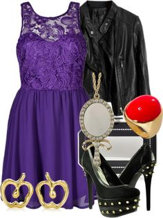 """""""The Evil Queen"""" by ❤ I would wear this for any occasion! Movie Inspired Outfits, Disney Inspired Fashion, Movie Outfits, Disney Bound Outfits, Princess Outfits, Princess Clothes, Mom Costumes, Disney Costumes, Costume Ideas"""