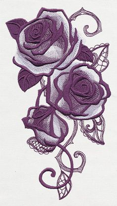 Briar Rose - Rose Cascade | Urban Threads: Unique and Awesome Embroidery Designs