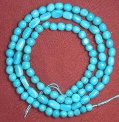 Sleeping Beauty Turquoise Loose smaller pebble beads 18 inch strand Blue Lot #S7