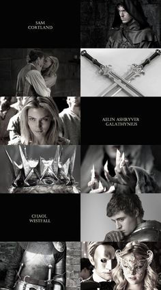 Haha in the last pic on the right remember in the Assassins Blade when Sam and Aelin(Celaena) go to the party and she gets really drunk and starts talking dirty with Dorian and then Sam steps in and Chaol gets all protective of Dorian and it's really funny and sad bc later on Dorian knows about Sam but doesn't know that he met him. :(