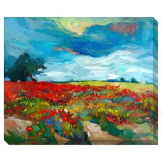 Artist: Boyan DimitrovTitle: Flower FieldProduct type: Gallery-wrapped canvas art