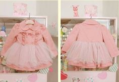BIG SALE toddler girl clothes girl dress gown girl coat autumn spring children coat kids pink gown on Etsy, $15.99