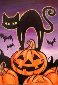 Halloween Cat - Painting with a Twist