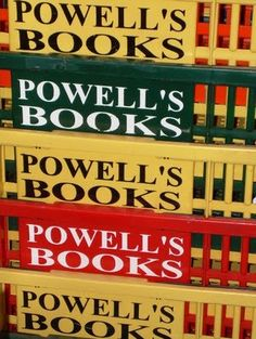 Portland Oregon, huge bookstore. I can't go to Portland without a visit to Powell's!