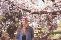 A spring wedding shoot with flower crowns of spring blossom and rustic bouquets of tulips and bluebells // The Natural Wedding Company Spring Blossom, Blossom Flower, Wedding Photoshoot, Wedding Shoot, Rustic Bouquet, Wedding Company, Flower Crowns, Spring Wedding, Tulips