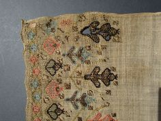 ANTIQUE MID 19th CENTURY OTTOMAN TURKISH SILK & METALLIC EMBROIDERED LINEN TOWEL in Antiques, Asian/Oriental Antiques, Islamic/Middle Eastern | eBay