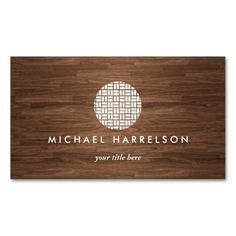 Modern Asian-Inspired Business Card Template for a variety of professions (restaurant, feng shui, interior designer, organizer, boutiques, bloggers, architects, etc.)