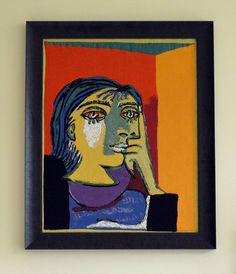 """Portrait de Dora Maar"" from Picasso - Tapestry made by Jules Pansu"
