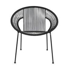 WOOOD draadfauteuil Lucca zwart 73x69x65 cm kopen? Verfraai je huis & tuin met Eetkamerstoelen van KARWEI