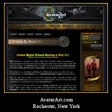 My Web Design Clients: AvatarArt.com. Rochester, New York. http://www.avatarart.com/
