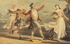 "c. 1780. Detail of ""A Highland Dance"" by David Allan."