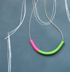 Polymer clay necklace by Not Tuesday.