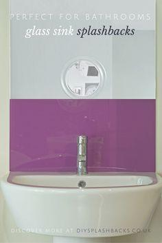 Simply splashbacks bathroom glass splashbacks coloured for Sink splashback ideas