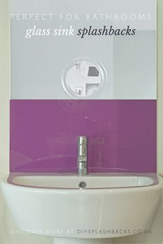 Simply splashbacks bathroom glass splashbacks coloured for Sink splashback ideas