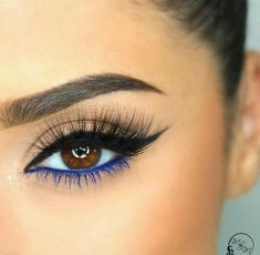 To Do Eyeliner For Every Eye Shape: Sure-Fire Tips & Tricks The blue liner and lash mascara balances the black upper lid liner beautifully.The blue liner and lash mascara balances the black upper lid liner beautifully. Makeup Goals, Makeup Inspo, Makeup Inspiration, Makeup Tips, Beauty Makeup, Beauty Tips, Makeup Ideas, Beauty Hacks, Makeup Hacks