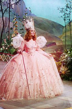 The quintessential princess costume, even though she is of course a good witch, not a princess...