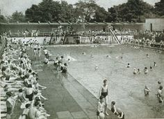 Lido in Lister Park - spent many a summer here Old Photos, Vintage Photos, Empty Pool, West Yorkshire, Black And White Pictures, Bradford, Urban Landscape, Historical Photos, New Pictures