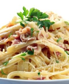 Olive Garden Spaghetti Carbonara ~ This dish is great when your short on time and need to get dinner on the table!