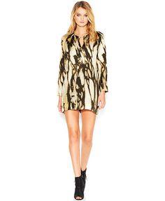 I want this RACHEL Rachel Roy Long-Sleeve Cutout Marble-Print Dress