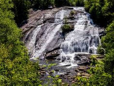Asheville Waterfalls, Visit Asheville, Asheville Hiking, Dupont State Forest, Waterfall Features, Trail Guide, Hiking Guide, Waterfall Hikes, Beautiful Waterfalls