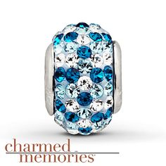 Charmed Memories Swarovski Elements Charm Sterling Silver Stock number: 811357401 This Charmed Memories® charm featuring blue and white SWAROVSKI ELEMENTS is crafted in sterling silver.