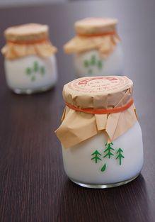 Le plus joli petit pot de yaourt du monde.