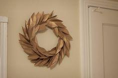 Brown paper bag wreath.
